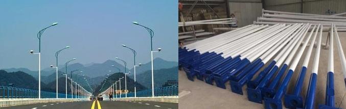 La producción del poste de luz